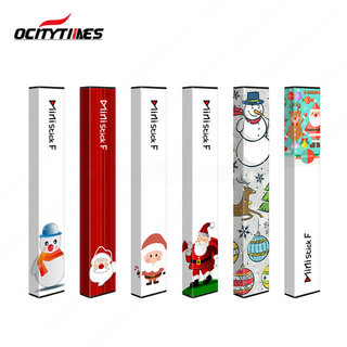 Christmas style Ministick F disposable vape pen prefilled nic salt flavors